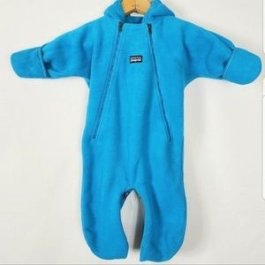 Patagonia - Synchilla Fleece Bunting Teal 6 months